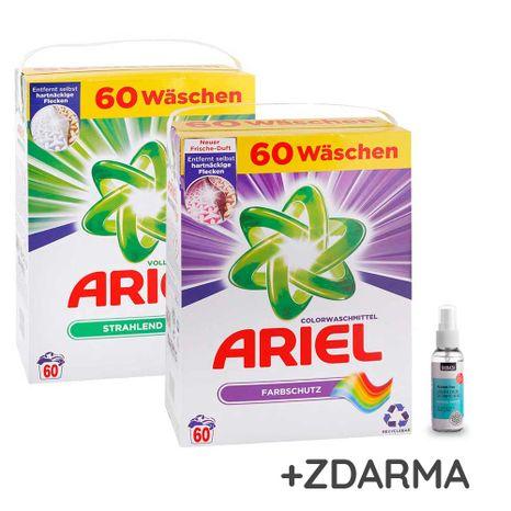 ACTION PACK Ariel 2x Actilift prášok 4,23 kg / 65 praní na univerzálne a farebné pranie
