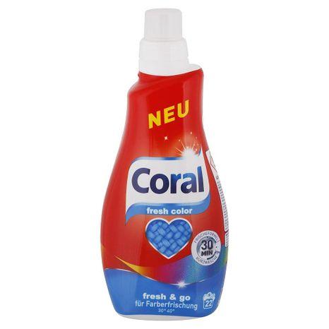 CORAL Fresh Color gél na pranie farebnej bielizne 1,1 l / 22 praní
