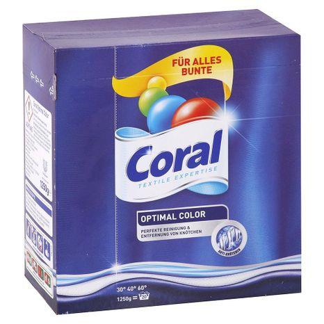 CORAL Optimal Color prášok na farebné prádlo 1,25 kg / 20 praní