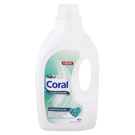 CORAL Sensitive Color gél na pranie 1,375 l / 25 praní