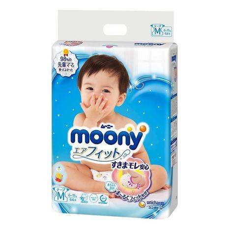 JAPONSKÉ PLIENKY Moony Air Fit veľ.M pre 6-11 kg / 61 ks