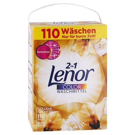 LENOR prášok na pranie farebnej bielizne 2v1 Zlatá orchidea 7,15 kg / 110 praní